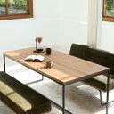 RoomClip商品情報 - ダイニングテーブル アイアン 無垢 160 ヴィンテージ ブルックリン 西海岸 おしゃれ WIRY 送料無料 【開梱・設置付き】