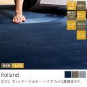 滑り止め加工 床暖房対応 ホットカーペット対応 高+低反発ハイブリッド2層構造 ボリュームフランネルラグマット Rolland ヴィンテージカラー(190×19...