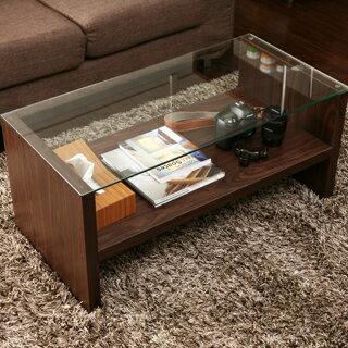 テーブルSTIN(ガラス/ロー/サイド/センター/カフェ/コーヒー/)