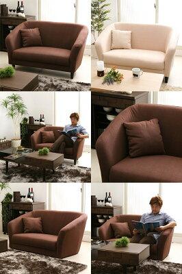 【送料無料】2Pソファー、2人掛けソファ、2人掛けソファー、ソファ、SALE、セール二人掛けソファーLEAF