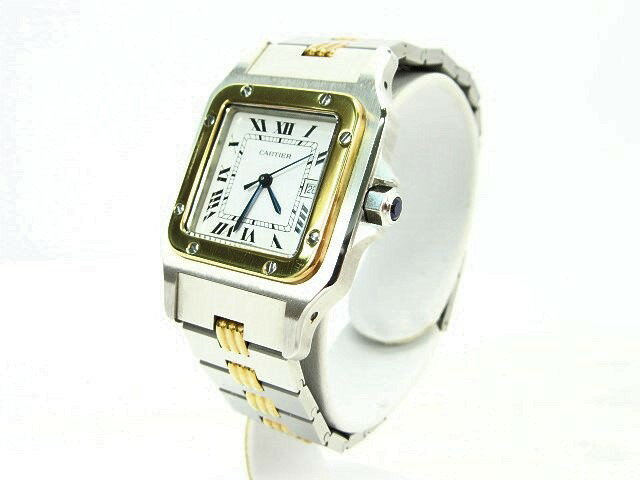 【送料無料】CARTIER/カルティエ サントスガルベ メンズ オートマチック(旧ブレス) 腕時計【】 クラシックなサントスガルベです☆高級感が漂う一品です♪