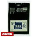 【送料無料】 ゴミ袋 業務用 ポリ袋 45L 黒 600枚 (10枚×60袋) 厚さ 0.03mm P-42 ジャパックス ケース販売 まとめ買い
