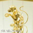 スワロフスキー 置物 さる 1627 SWAROVSKI オーナメント オブジェ 置物 モンキー サル 干支