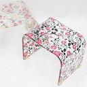 バスチェア アクリル おしゃれ 風呂椅子 姫系 雑貨 かわいい 花柄 薔薇雑貨 バラ雑貨 エレガント ファッション
