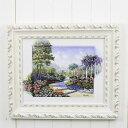 イタリア 額絵 壁飾り 洋画 風景画 W39×D3×H33cm 91656