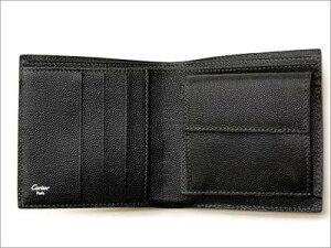 【Cartier】カルティエ財布二つ折り財布(小銭入れ付)サントスブラックL3000772【送料無料】【楽ギフ_包装】