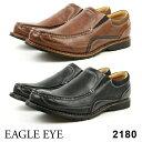 EAGLE EYE/イーグル アイ2180メンズ アンティーク加工カジュアルシューズBLACK BROWNブラック ブラウン