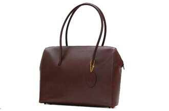 Cartier must line shoulder tote bag Bordeaux fs3gm