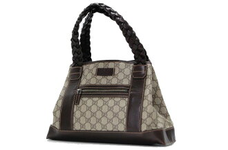 Gucci GG plus tote bag beige x Brown 140948 fs3gm
