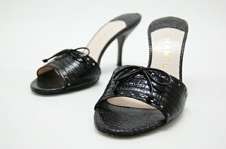 Chanel lizard Mule 37 black fs3gm