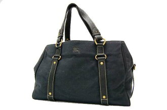 Burberry Blue label tote bag Navy series x black fs3gm