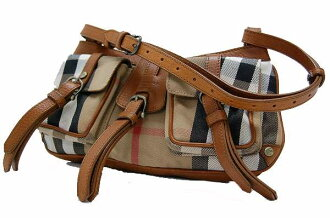 Burberry PRORSUM Prorsum check セミショルダー bags Brown of fs3gm