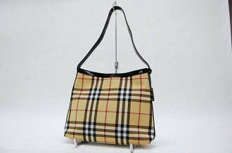 Burberry London classic check セミショルダー bags beige × black fs3gm