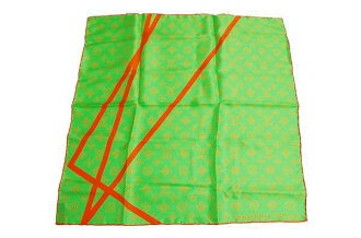 2002 Louis Vuitton Christmas limited edition フルオライン silk scarf Vert (green) unused fs3gm
