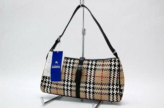 Burberry Blue label check セミショルダー bags beige × black