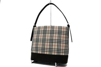 Burberry check セミショルダー bags beige x Brown beauty products fs3gm