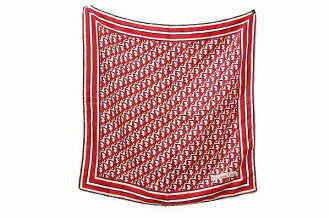 Dior logo silk scarf red series fs3gm