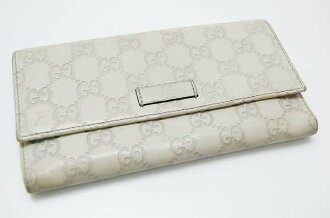 Gucci JOY (joy) guccissima zipper long wallet ivory 203573 fs3gm
