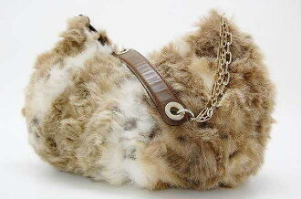 Burberry Blue label faux fur セミショルダー bag Brown