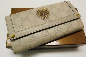 Gucci BABOUSKA (Babushka) guccissima W hook length wallet ivory 208566 fs3gm