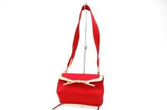 Prada canvas shoulder bag red B9931 Mint fs3gm
