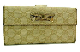 Gucci PRINCY (printhie) GG W hook length wallet gold 167464 fs3gm