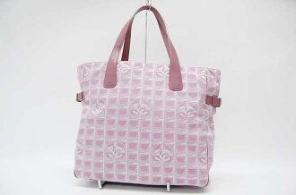 Chanel Newt label line Tote GM pink A15825 fs3gm