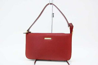 Like Burberry leather shoulder bag red new