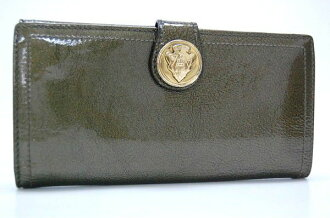 Gucci HYSTERIA (hysteria) patent leather W hook length wallet bronze series 190350 s for fs3gm