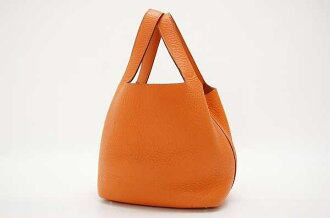 """Picota in PM,"" HERMES Hermes handbag triyoncremans Orange F time used"