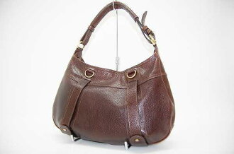 Burberry leather bag セミショルダー Brown fs3gm