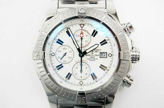 "Breitling スーパーアベン Messenger chronograph men's watch automatic white-dial A13370 finishing has been good as new ""response.""-fs3gm"