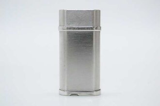 Cartier oval gas lighter steel finish silver CA120116