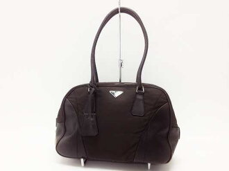 "Testing software Prada bowling bag dark brown B10745 ""enabled."""