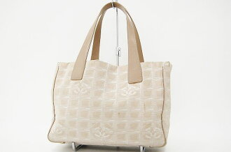 "Chanel Newt label line Tote PM beige A20457 ""enabled."""