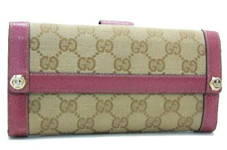 "Gucci CHARMY (charmy) GG W hook length wallet beige / pink 153211 ""response.""-fs3gm"