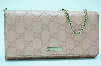 Gucci guccissima chain long wallet purse bag pink 170426? s support.""