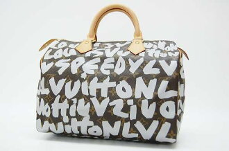 "30 Louis Vuitton old graffiti ""speedy"" mini-Boston handbag silver M92195 beauty product 》 fs3gm for 《"