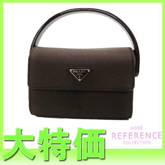 "Prada satin mini handbag dark brown ""response.""-fs3gm"
