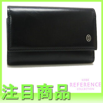 Six Cartier pasha do Cartier key case onyx (black) L3000127 》 fs3gm for 《
