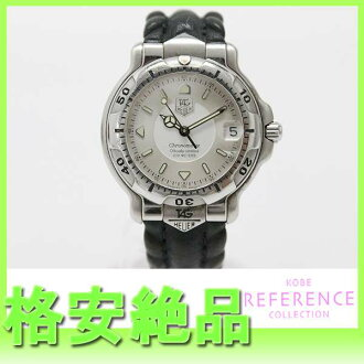 "Tag Heuer 6000 series 200 m men's watch automatic SS leather belt WH5211 ""response.""-fs3gm"
