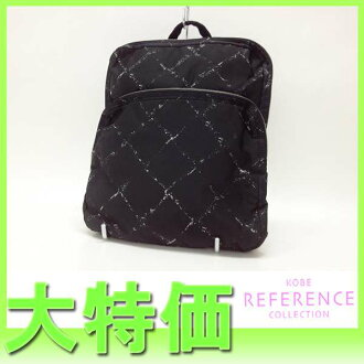 CHANEL old travel line rucksack black 》 fs3gm for 《