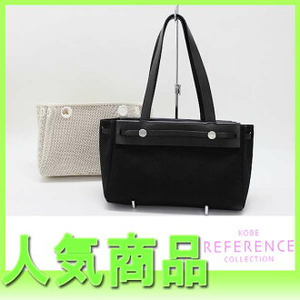 Black / natural H 刻 》 fs3gm with the HERMES yell bag hippopotamuses PM substitute bag for 《
