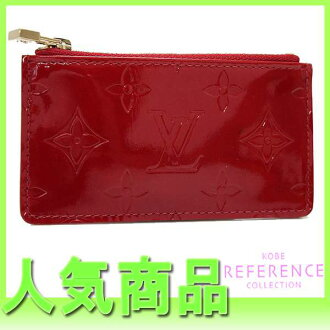 "ルイヴィトンモノグラムヴェルニ ""ポシェットクレ"" coin purse combined use key case rouge M91205 like-new 》 fs3gm 02P05Apr14M for 《"