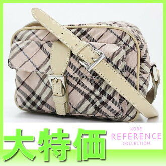 "Burberry Blue label Nova check shoulder bag light pink series ""correspondence."" fs3gm"