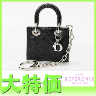 Dior Lady Dior limited edition face & lip バッグモチーフキー holder black x unused silver bracket # 001 パリジェンヌシック fs3gm? s support.""
