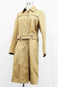 "Gucci Womens cotton long coat 38 beige ""response.""-fs3gm"