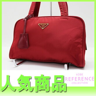 "Prada nylon mini Boston Red ""response.""-fs3gm"