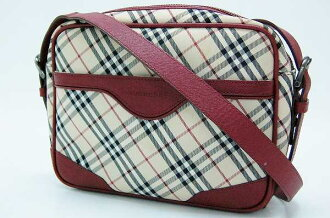 Burberry Nova check shoulder bag beige * Bordeaux fs3gm