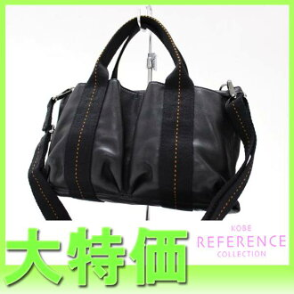 "Hermes SAC caravan horizontal PM 2 WAY Tote Bag Black ""response.""-fs3gm"